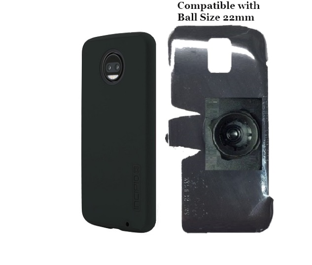 SlipGrip 22mm Ball Holder Designed For Motorola Moto Z2 Force Incipio Dualpro Case