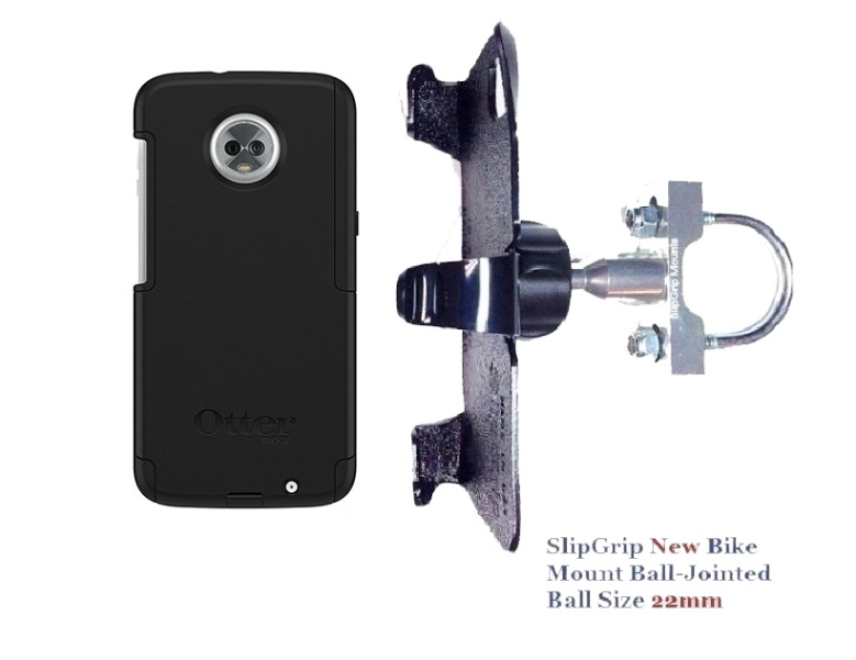 SlipGrip U-Bolt Bike Holder Designed For Motorola Moto Z3 & Z3 Play Otterbox Commuter Case