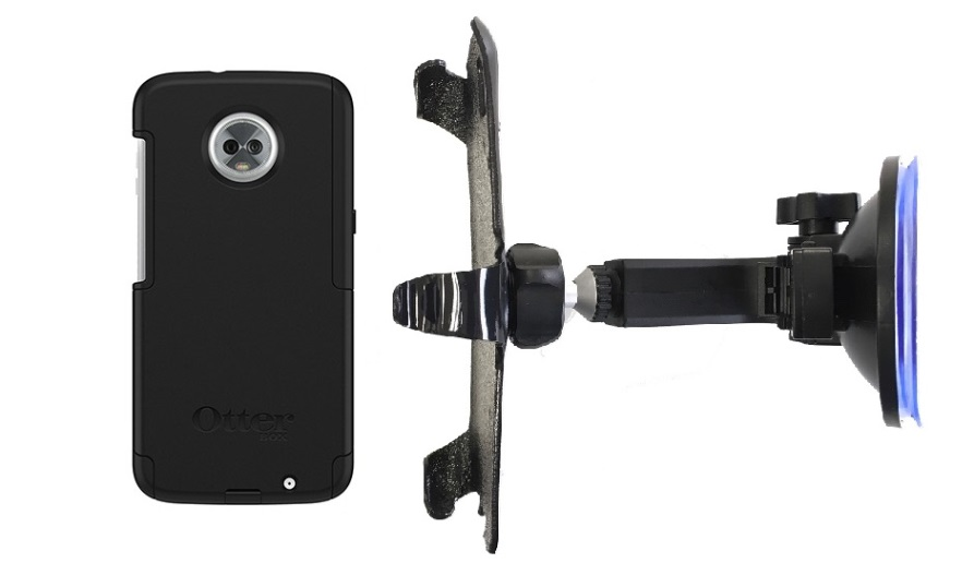 SlipGrip Car Holder Designed For Motorola Moto Z3 & Z3 Play Otterbox Commuter Case HV