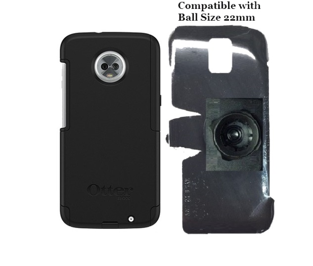 SlipGrip 22mm Ball Holder Designed For Motorola Moto Z3 & Z3 Play Otterbox Commuter Case
