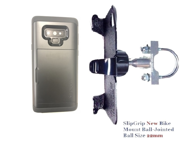 SlipGrip U-Bolt Bike Holder Designed For Samsung Galaxy Note 9 Spigen Slim Armor CS Case