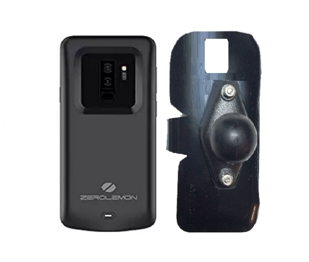 SlipGrip RAM Holder For Samsung Galaxy S9 Plus Using Zerolemon 5200mAh Case