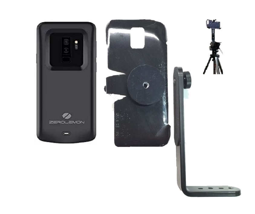 SlipGrip Tripod Mount For Samsung Galaxy S9 Plus Using Zerolemon 5200mAh Case