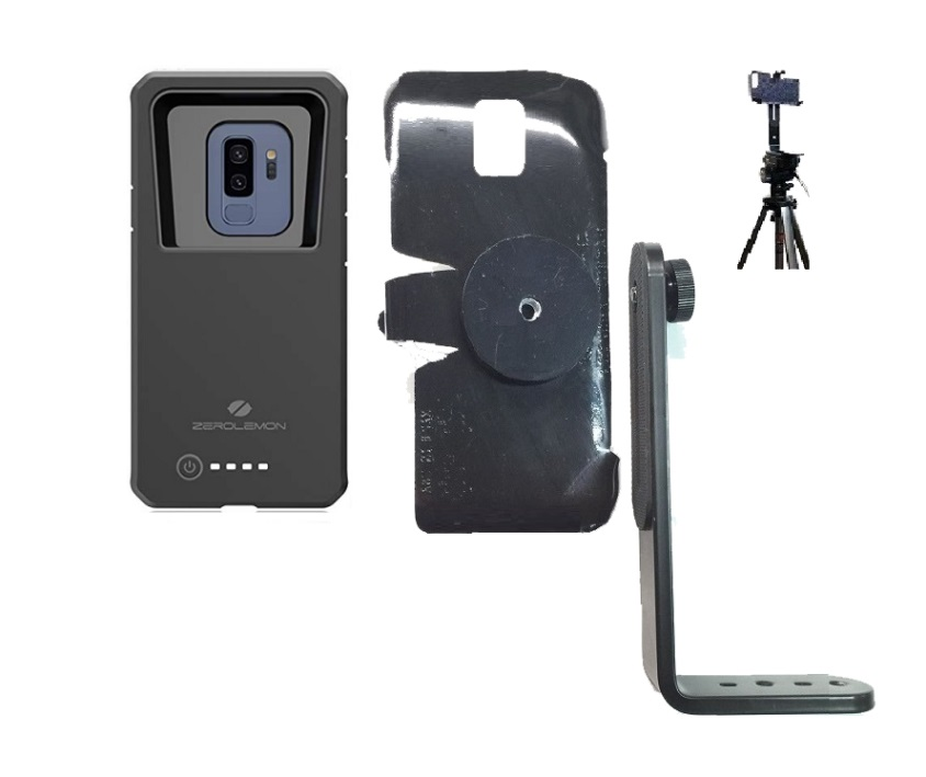 SlipGrip Tripod Mount For Samsung Galaxy S9 Plus Using Zerolemon 8000mAh Case