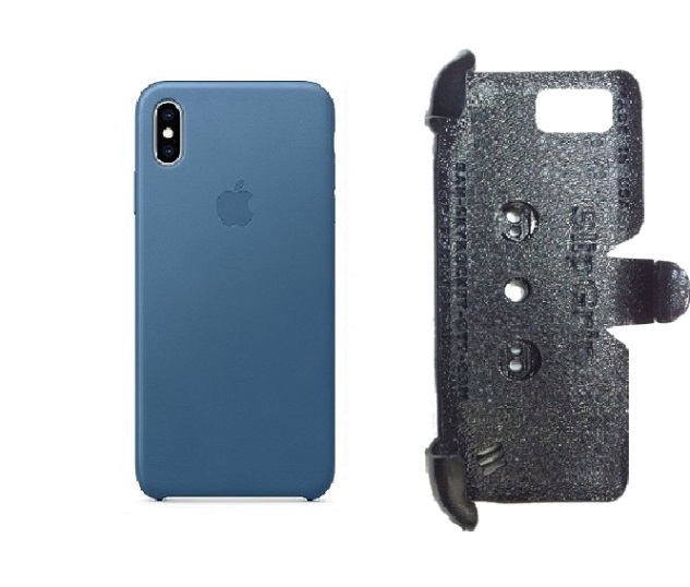 SlipGrip PRO Mounts Holder For Apple iPhone XS Max Using Apple Leather Case