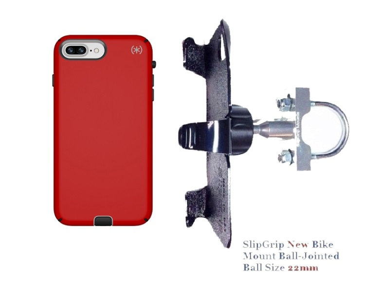 SlipGrip U-Bolt Bike Holder Designed For Apple iPhone 8 Plus Speck Presidio Sport Case