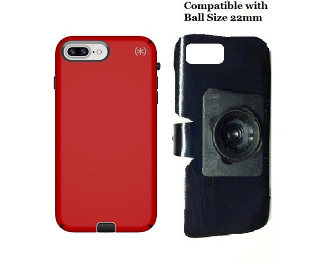 SlipGrip 22mm Ball Holder Designed For Apple iPhone 8 Plus Speck Presidio Sport Case