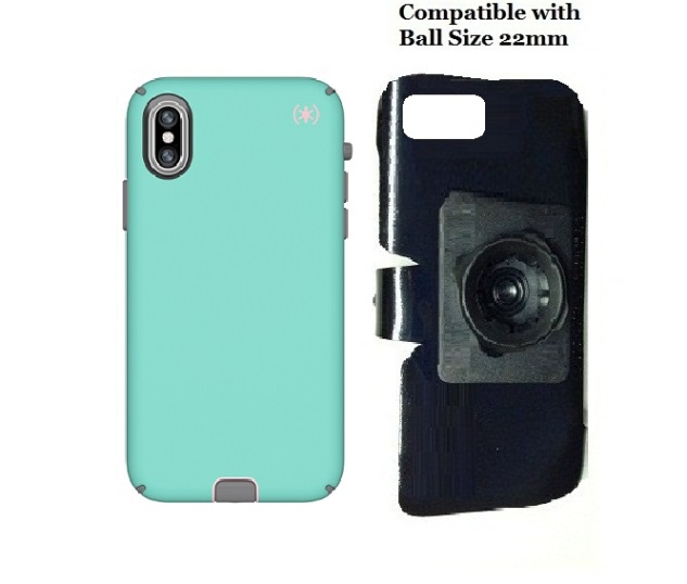 SlipGrip 22mm Ball Holder Designed For Apple iPhone X/XS Speck Presidio Sport Case