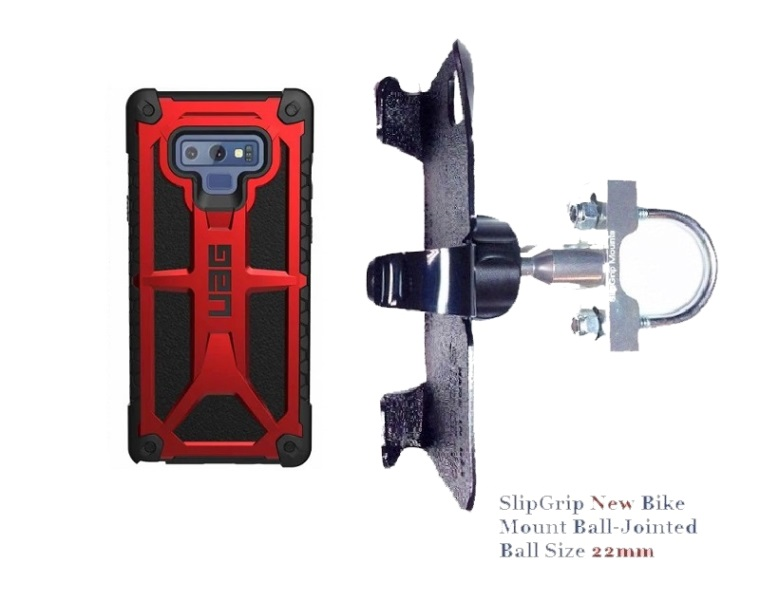 SlipGrip U-Bolt Bike Holder Designed For Samsung Galaxy Note 9 UAG Monarch Case