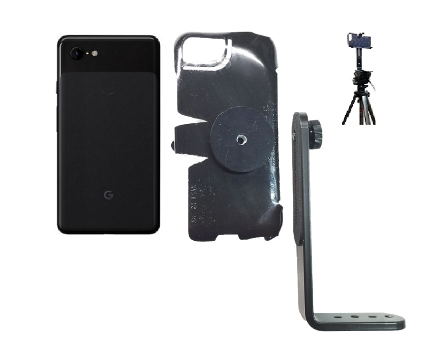 SlipGrip Tripod Mount For Google Pixel 2 XL Phone Naked Using No Case On