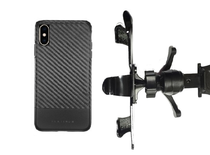new products 6bf6f 19c4d SlipGrip Vent Holder For Apple iPhone XS Max Using Best Buy Platinum Case