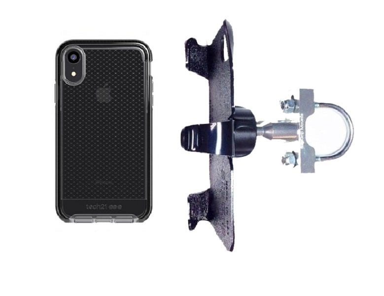 SlipGrip U-Bolt Bike Holder Designed For Apple iPhone XR Tech21 EVO Check Case