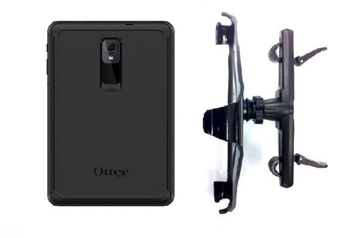 SlipGrip Headrest Mount Designed For Samsung Galaxy Tab A 10.5 Tablet Otterbox Defender Case