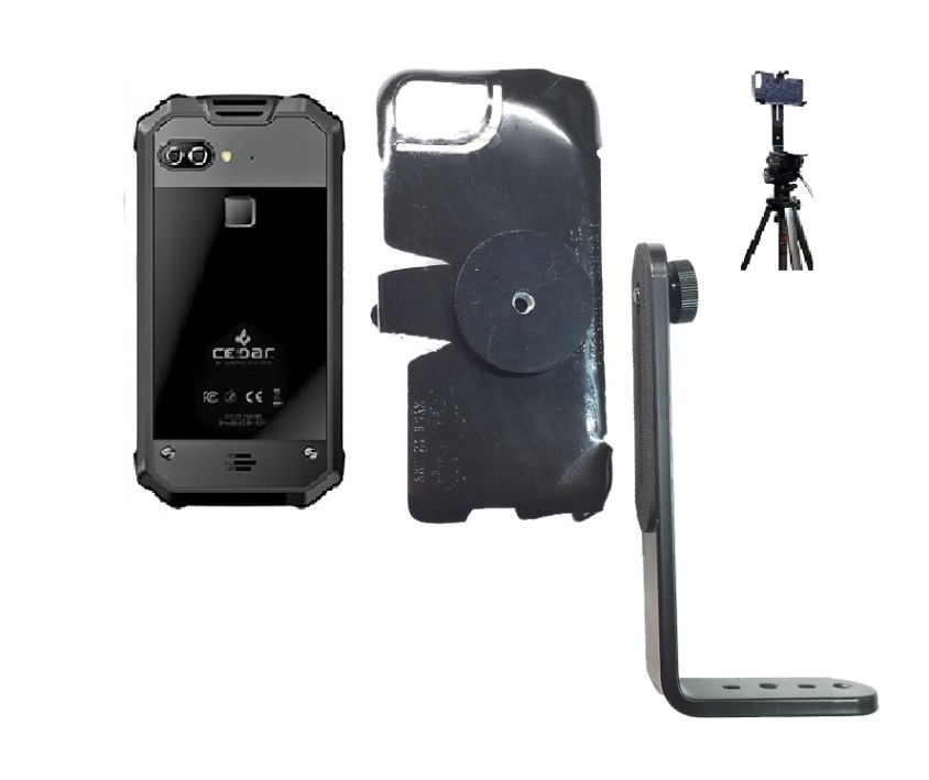 SlipGrip Tripod Mount For Juniper Systems Cedar CP3 Phone Naked Using No Case On
