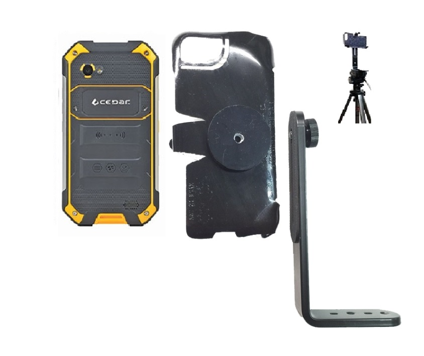SlipGrip Tripod Mount For Juniper Systems Cedar CT5 Phone Naked Using No Case On