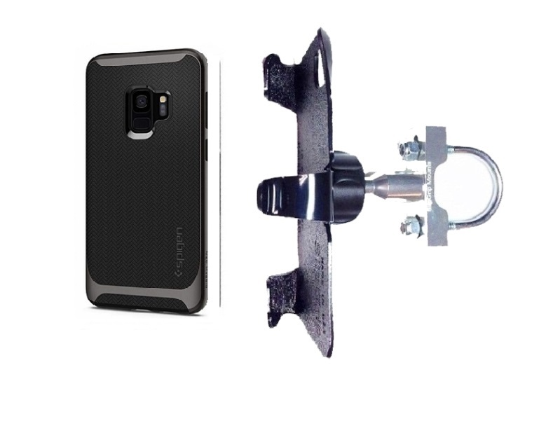 SlipGrip U-Bolt Bike Holder For Samsung Galaxy S9 Using Spigen Neo Hybrid Case