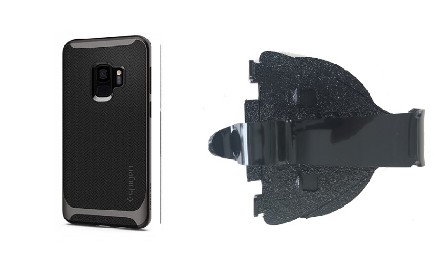 SlipGrip Car Dashboard Holder For Samsung Galaxy S9 Using Spigen Neo Hybrid Case