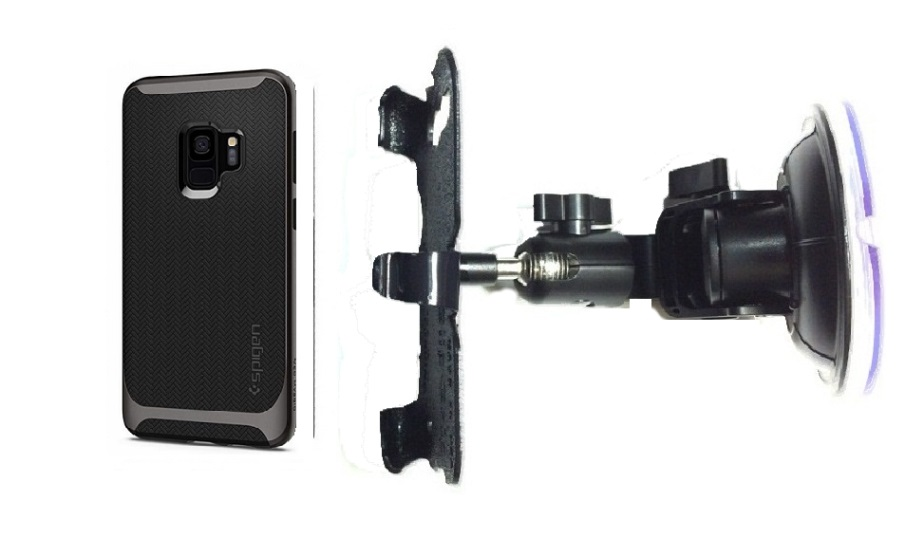 SlipGrip Car DT Holder For Samsung Galaxy S9 Using Spigen Neo Hybrid Case
