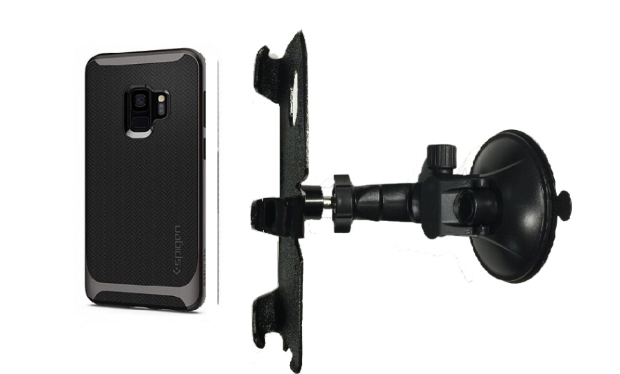SlipGrip Car Holder For Samsung Galaxy S9 Using Spigen Neo Hybrid Case LP