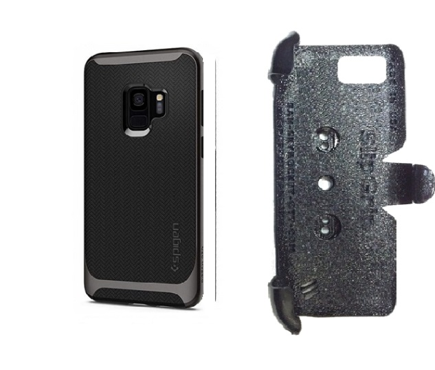 SlipGrip PRO Mounts Holder For Samsung Galaxy S9 Using Spigen Neo Hybrid Case