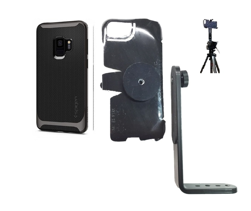 SlipGrip Tripod Mount For Samsung Galaxy S9 Using Spigen Neo Hybrid Case