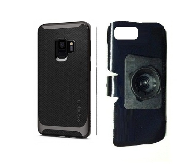 SlipGrip 22mm Ball Holder For Samsung Galaxy S9 Using Spigen Neo Hybrid Case