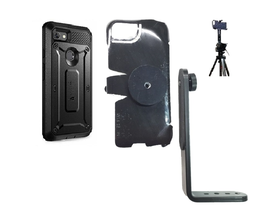SlipGrip Tripod Mount For Google Pixel 2 XL Phone Using Supcase Beetle Pro Case