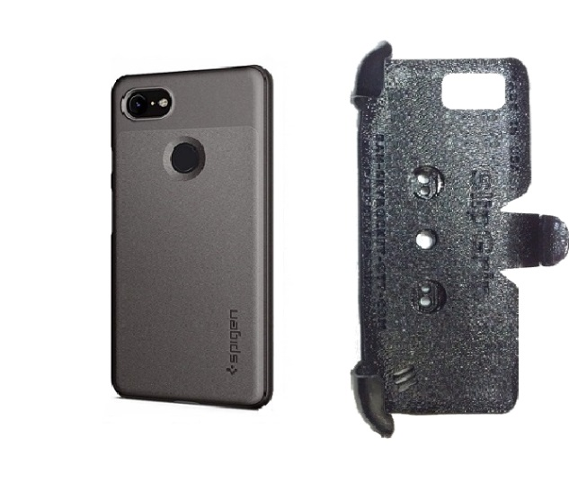 SlipGrip PRO Mounts Holder For Google Pixel 3 Phone Using Spigen Thin Fit Case