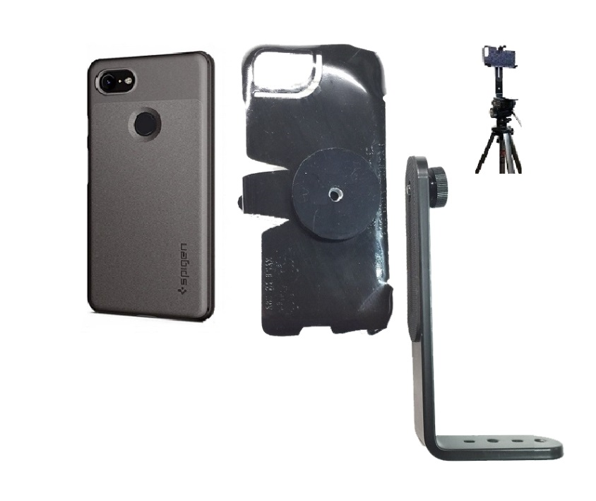SlipGrip Tripod Mount For Google Pixel 3 Phone Using Spigen Thin Fit Case
