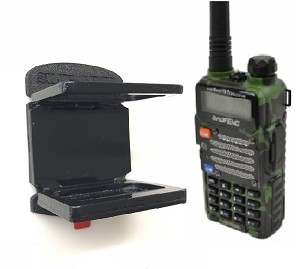 SlipGrip Holder For Baofeng Two-Way Radio US UV-5R V2+ In House Desk Car