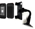 SlipGrip Car Holder For Apple iPhone 4 4S Using Lunatik Taktik Extreme Case