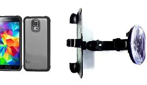 detailed look 9ef07 88cb1 SlipGrip Car Holder For Samsung Galaxy S5 i9600 Using Griffin Survivor  Clear Case HV