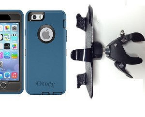 "SlipGrip 1.5"" Bike Holder For Apple iPhone 6S Using Otterbox Defender Case"