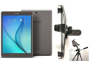 new product e94a2 1751a SlipGrip Tripod Mount For Samsung Galaxy Tab S2 9.7 T-Mobile Tablet Naked  Using No Case