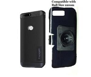 best website 655a8 5b48a SlipGrip 22mm Ball Holder For Huawei Nexus 6P Using Spigen Rugged Armor Case