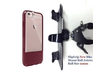 "SlipGrip 1.5"" Bike Holder For Apple iPhone 6 Plus Using Otterbox Statement Case"