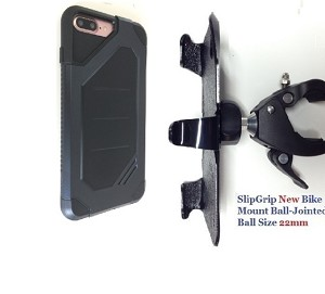"SlipGrip 1.5"" Bike Holder For Apple iPhone 7 Plus Using Ringke Max Heavy Duty Case"