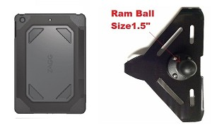 "SlipGrip RAM 1.5"" Ball Mount For Apple iPad Pro 9.7 Tablet Using ZAGG Rugged Case"