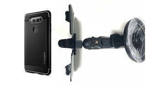 quite nice 8776c 28be5 SlipGrip Car Holder For LG V20 PhOne Using Spigen Rugged Armor Slim Case HV