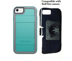 SlipGrip 22mm Ball Holder For Apple iPhone 7 Using Pelican Protector Case