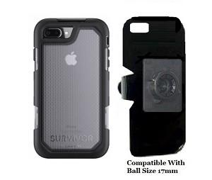 premium selection 92afc dd5eb SlipGrip 17MM Holder Designed For Apple iPhone 8 Plus Griffin Survivor  Extreme Case