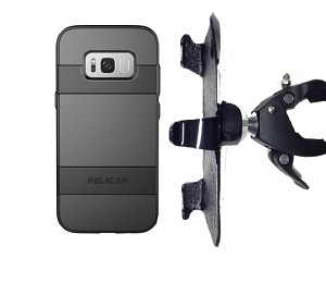 "SlipGrip 1.5"" Bike Holder Designed For Samsung Galaxy S8 Plus Pelican Voyager Case"