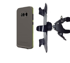 "SlipGrip 1.5"" Bike Holder Designed For Samsung Galaxy S8 Plus LifeProof FRE Case"