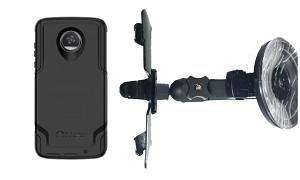 competitive price 57e15 6bdc5 SlipGrip Car Holder Designed For Motorola Moto Z2 Play Otterbox Commuter  Case HV