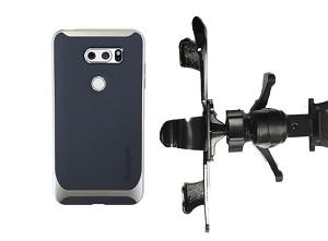 super popular aa6e7 8da99 SlipGrip Vent Holder Designed For LG V30 Phone Spigen Neo Hybrid Case