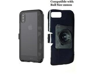 purchase cheap b8db5 6fd29 SlipGrip 22mm Ball Holder Designed For Apple iPhone X Tech21 EVO Wallet Case