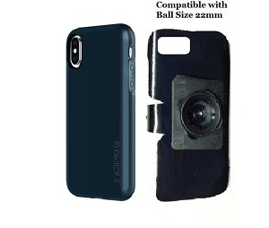 premium selection d38b5 ce70c SlipGrip 22mm Ball Holder Designed For Apple iPhone X Incipio Haven Lux Case
