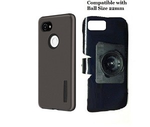 SlipGrip 22mm Ball Holder Designed For Google Pixel 2 XL Phone Incipio DualPro Case