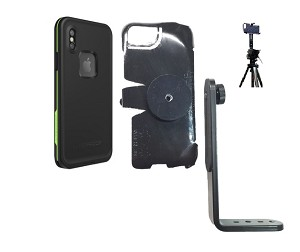SlipGrip Tripod Mount Designed For Apple iPhone X Lifeproof FRE Case