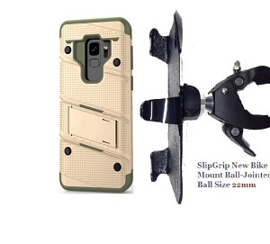 SlipGrip 1.5 Bike Holder For Samsung Galaxy S9 Using Zizo Bolt Case